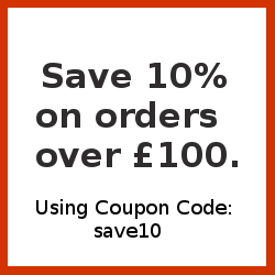 Save 10% on all UK Orders over £100