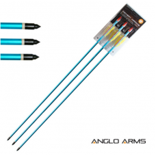 Anglo Arms Pack of 3 Aluminium Archery Arrows - 30 Inches