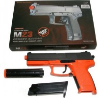Double Eagle M23 Spring Powered Orange Plastic BB Gun With Silencer