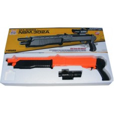 NSM 302A Spring Powered (Low Power) Plastic Airsoft Pump Action BB Shotgun