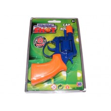 Blue & Orange 8 Shot Plastic Cap Gun Pistol
