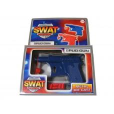 Blue Metal Diecast Potato Spud Gun