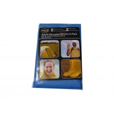 Adult Size Plastic Poncho with Hood - Choice of 3 Colours