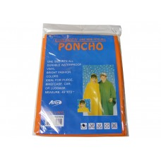 Childrens Plastic Poncho with Hood - One Size Upto 12 Years - Choice of 6 Colours